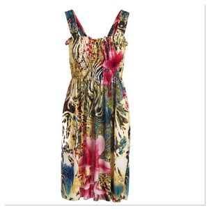 Shirred A-Line Dress